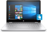 "HP Pavilion x360 14-ba142ns 1.80GHz i7-8550U 14"" 1920 x 1080Pixel Touch screen Argento, Oro Ibrido (2 in 1)"
