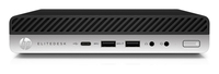 HP EliteDesk 800 35W G3 Mini 2.7GHz i5-7400T Scrivania Nero, Argento Mini PC
