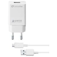 Cellularline Adaptive Fast Charger Kit 15W Bianco