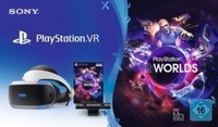 Sony PlayStation VR + V2/Camera + VR Worlds Voucher Occhiali immersivi FPV 610g Nero, Bianco