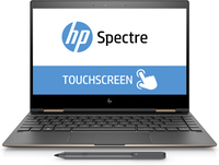 "HP Spectre x360 13-ae077tu 1.8GHz i7-8550U 13.3"" 1920 x 1080Pixel Touch screen Nero, Argento Ibrido (2 in 1)"