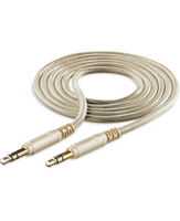 Cellularline Aux Music Cable - iPhone and iPad Cavo Aux antistrappo per connessione iPhone-autoradio Oro