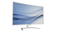 "Philips E Line 326E7QSA 31.5"" Full HD MVA Argento, Bianco Curvo monitor piatto per PC"