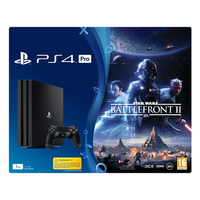 Sony PlayStation 4 Pro + StarWars Battlefront II 1000GB Wi-Fi Nero