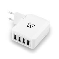CARICABATTERIA DA RETE 4 PORTE USB UNIVERSALE EWENT EW1304