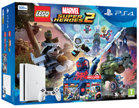 Sony PlayStation 4 500GB + Lego Marvel Super Heroes 2 + Lego Avengers 500GB Wi-Fi Bianco