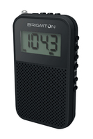 Brigmton BT 345 Portatile Digitale Nero radio