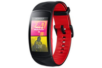 "Samsung Gear Fit2 1.5"" SAMOLED GPS (satellitare) Nero, Rosso smartwatch"