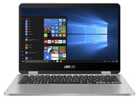 "ASUS VivoBook Flip TP401NA-WH21T 1.1GHz N4200 14"" 1366 x 768Pixel Touch screen Grigio Ibrido (2 in 1) notebook/portatile"