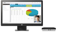 HP ProDesk 400 G3 Mini + ProDisplay P240va 2.70GHz i5-7500T PC di dimensione 1L Nero Mini PC