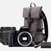 Canon EOS 200D + 18-55 IS STM Kit fotocamere SLR 24.2MP CMOS 6000 x 4000Pixel Nero