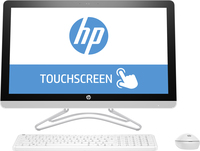 "HP 24 -e085na 2.4GHz A9-9400 23.8"" 1920 x 1080Pixel Touch screen Bianco PC All-in-one"