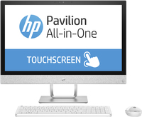 "HP Pavilion 24-r050na 2.4GHz i5-7400T 23.8"" 1920 x 1080Pixel Touch screen Bianco PC All-in-one"