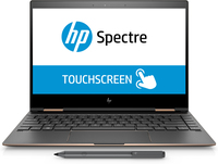"HP Spectre x360 13-ae002nn 1.8GHz i7-8550U 13.3"" 3840 x 2160Pixel Touch screen Nero, Argento Ibrido (2 in 1)"