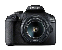 Canon EOS 2000D BK 18-55 IS + SB130 +16GB EU26 Kit fotocamere SLR 24.1MP CMOS 6000 x 4000Pixel Nero
