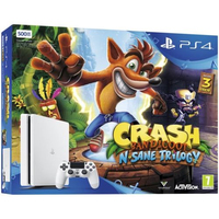 Sony PlayStation 4 Slim 500GB + Crash Bandicoot N. Sane Trilogy 500GB Wi-Fi Bianco