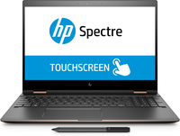 "HP Spectre x360 15-ch004no 3.1GHz 15.6"" 3840 x 2160Pixel Touch screen Nero, Argento Ibrido (2 in 1)"