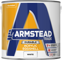 Armstead Trade Durable Acrylic Eggshell Bianco 2.5L