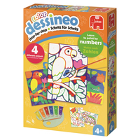 Dessineo Color - Paint by Numbers - Jungle Color by numbers kit