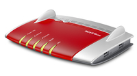 AVM FRITZ!Box 7490 + 2x FRITZ!Fon C5 Dual-band (2.4 GHz/5 GHz) Gigabit Ethernet Rosso, Argento router wireless