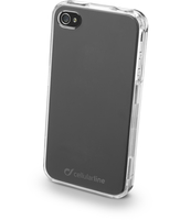 Cellularline Invisible - iPhone 4S/4 Cover rigida trasparente, mantiene il design inalterato Trasparente