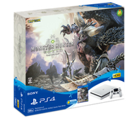 Sony Playstation 4 Slim + MONSTER HUNTER: WORLD 500GB Wi-Fi Bianco