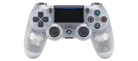 Sony DualShock 4 Gamepad PlayStation 4 Traslucido, Bianco
