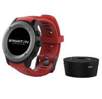 "Brigmton BWATCH-100GPS 1.3"" IPS GPS (satellitare) Nero, Rosso smartwatch"