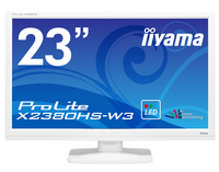 "iiyama ProLite X2380HS-W3 23"" Full HD LED Opaco Piatto Bianco monitor piatto per PC LED display"