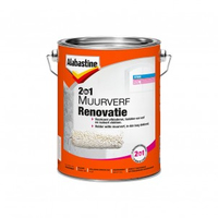 Alabastine 2in1 Muurverf renovatie Wit 5L