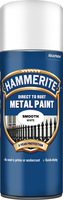 Hammerite Direct To Rust Metal Paint Aerosol Smooth Finish Bianco 0.4L