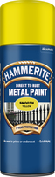 Hammerite Direct To Rust Metal Paint Aerosol Smooth Finish Giallo 0.4L