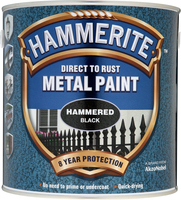 Hammerite Direct To Rust Metal Paint Hammered Finish Nero 2.5L