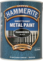 Hammerite Direct To Rust Metal Paint Hammered Finish Nero 5L