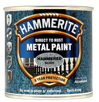Hammerite Direct To Rust Metal Paint Hammered Finish Argento 0.25L