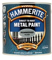 Hammerite Direct To Rust Metal Paint Hammered Finish Argento 2.5L