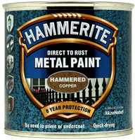 Hammerite Direct To Rust Metal Paint Hammered Finish Rame 0.25L