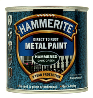 Hammerite Direct To Rust Metal Paint Hammered Finish Verde scuro 0.25L