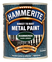 Hammerite Direct To Rust Metal Paint Hammered Finish Verde scuro 0.75L