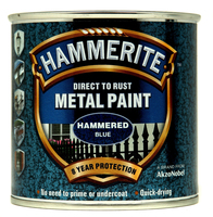 Hammerite Direct To Rust Metal Paint Hammered Finish Blu 0.25L