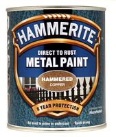 Hammerite Direct To Rust Metal Paint Hammered Finish Rame 0.75L