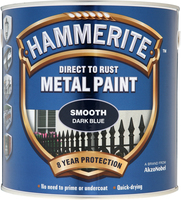 Hammerite Direct To Rust Metal Paint Smooth Finish Blu scuro 2.5L