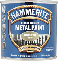 Hammerite Direct To Rust Metal Paint Smooth Finish Oro 0.25L