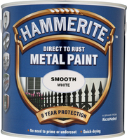 Hammerite Direct To Rust Metal Paint Smooth Finish Bianco 2.5L