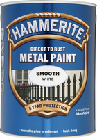 Hammerite Direct To Rust Metal Paint Smooth Finish Bianco 5L