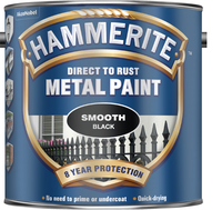 Hammerite Direct To Rust Metal Paint Smooth Finish Nero 2.5L
