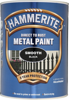 Hammerite Direct To Rust Metal Paint Smooth Finish Nero 5L