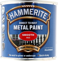 Hammerite Direct To Rust Metal Paint Smooth Finish Rosso 0.25L