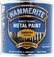 Hammerite Direct To Rust Metal Paint Smooth Finish Giallo 0.25L