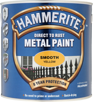 Hammerite Direct To Rust Metal Paint Smooth Finish Giallo 2.5L